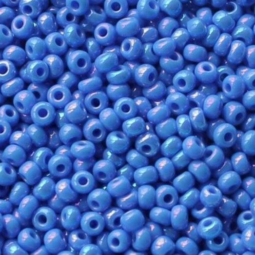 16336 голубой натуральный, непрозрачный Бисер Preciosa