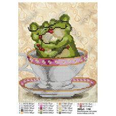 МИКА-1768 (А5) Влюбленные лягушки. Схема для вышивки бисером