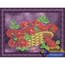 ФР-НБч2-018 Розы в корзине. Схема для вышивки бисером ТМ Фурор