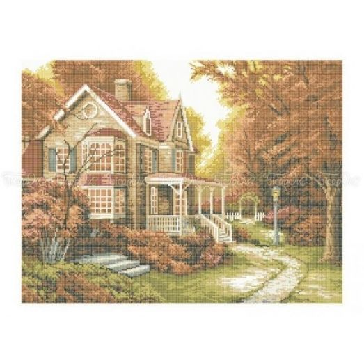 10-206 (40*60) Дом в лесу. Схема для вышивки бисером Бисерок