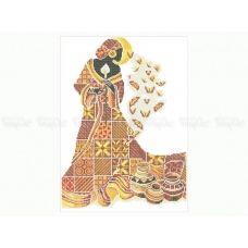 40-210 (40*60) Загадочная африканка. Схема для вышивки бисером Бисерок