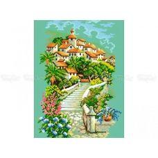 10-364 (30*40) Вверх по лестнице. Схема для вышивки бисером Бисерок