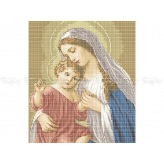 20-217 (40*60) Мадонна с младенцем. Схема для вышивки бисером Бисерок