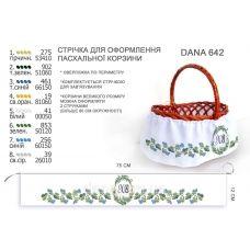 ДАНА-642 Лента для оформления пасхальной корзинки (юбка)