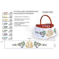 ДАНА-640 Лента для оформления пасхальной корзинки (юбка)