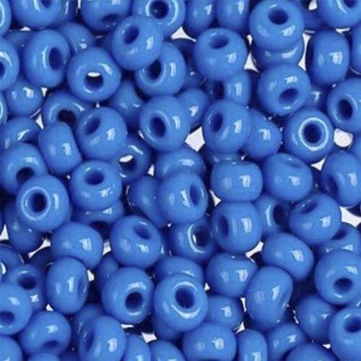 17365 Светло-синий с глянцевым блеском, непрозрачный Бисер Preciosa