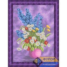 ФР-НБп2-023 Букет полевых цветов в вазе. Схема для вышивки бисером ТМ Фурор