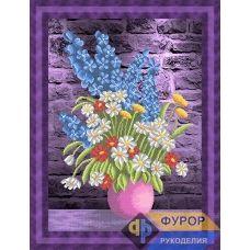 ФР-НБч2-024 Букет полевых цветов в вазе. Схема для вышивки бисером ТМ Фурор