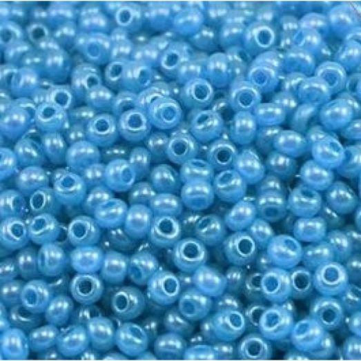 17936 Синий с глянцевым блеском, непрозрачный Бисер Preciosa