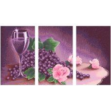 АМТ-002 Фиолетовый триптих. Набор для алмазной выкладки камнями. Княгиня Ольга