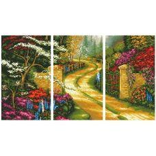 АМТ-001 Триптих Дорога в сад. Набор для алмазной выкладки камнями. Княгиня Ольга