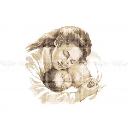 40-329 (30*40) Мать и дитя. Схема для вышивки бисером Бисерок