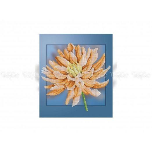 30-311 (30*40) Хризантема. Схема для вышивки бисером Бисерок