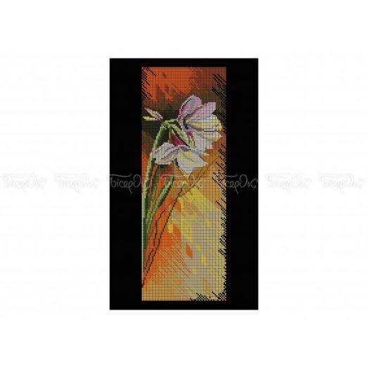 30-325 (30*40) Белый цветок. Схема для вышивки бисером Бисерок