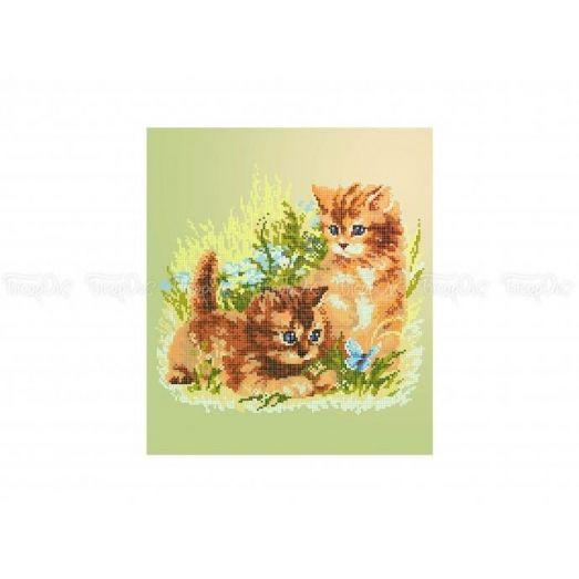 50-311 (30*40) Пушистые котята. Схема для вышивки бисером Бисерок