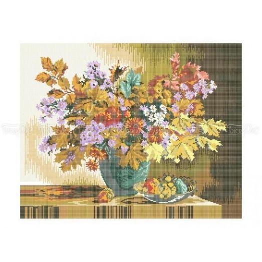 30-205  (40*60) Осенний букет. Схема для вышивки бисером Бисерок