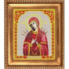 И-4004 Пресвятая Богородица Семистрельная. Схема для вышивки бисером Благовест