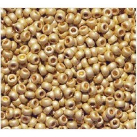 18581/1 Бисер Preciosa золотой металлизированный матовый