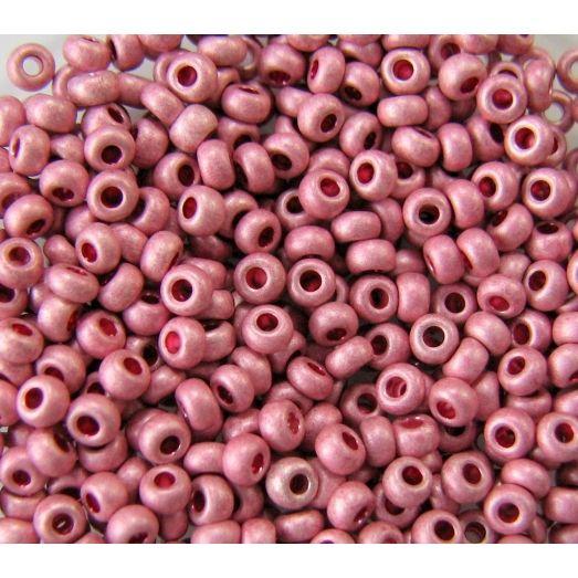 18595 Бисер непрозрачный розовый металлик матовый