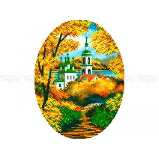 10-306 (30*40) Осенний пейзаж. Схема для вышивки бисером Бисерок