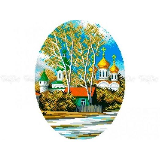 10-305 (30*40) Церковь. Схема для вышивки бисером Бисерок
