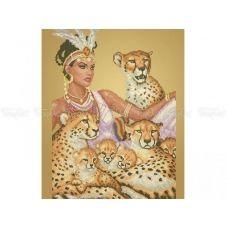 40-216 (40*60) Африканская принцесса. Схема для вышивки бисером. Бисерок