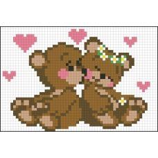 АМД-112 Влюблённые мишки. Набор для алмазной выкладки камнями. Княгиня Ольга