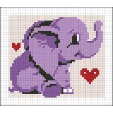 АМД-114 Счастливый слонёнок. Набор для алмазной выкладки камнями. Княгиня Ольга