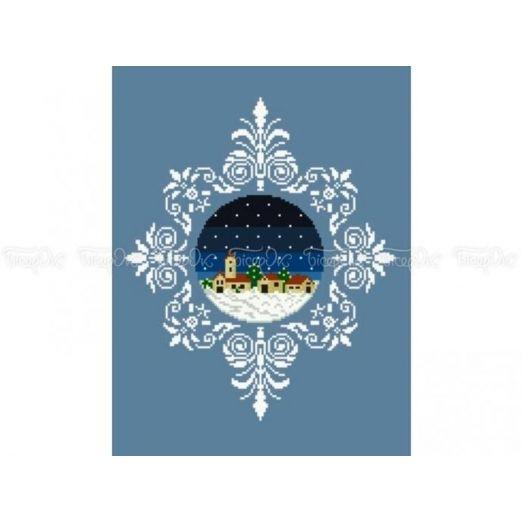 10-355 (30*40) Новогодний шар. Схема для вышивки бисером Бисерок