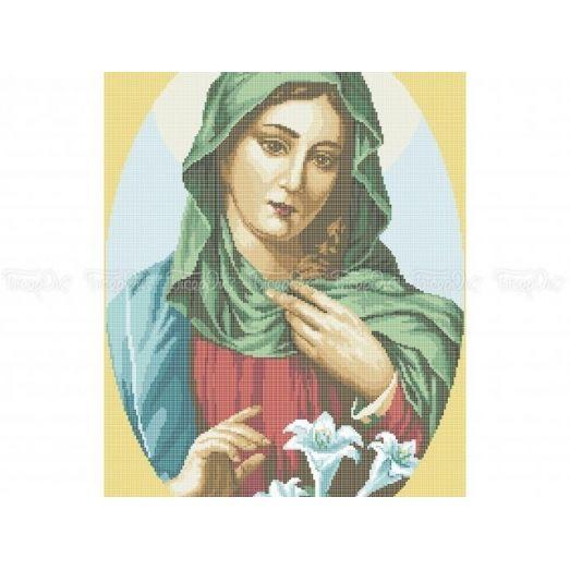 20-218 (40*60) Святая Мария. Схема для вышивки бисером Бисерок