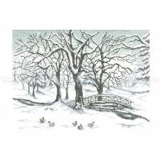 10-217 (40*60) Мороз. Схема для вышивки бисером Бисерок