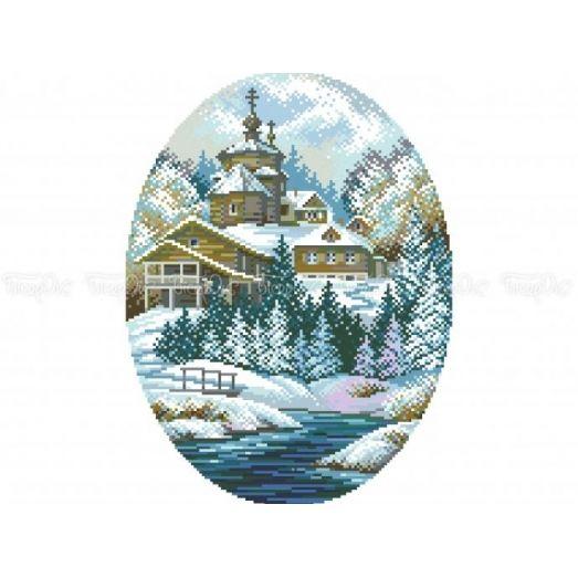 10-300 (30*40) Зима. Схема для вышивки бисером Бисерок
