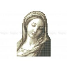 20-400 (20*25) Мадонна. Схема для вышивки бисером Бисерок