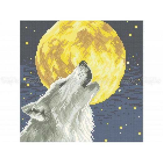 50-338 (30*40) Волк. Схема для вышивки бисером Бисерок