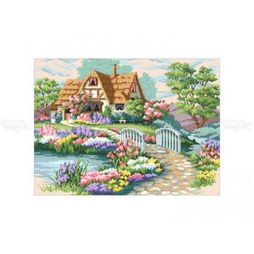 10-333 (30*40) Цветущий сад. Схема для вышивки бисером Бисерок