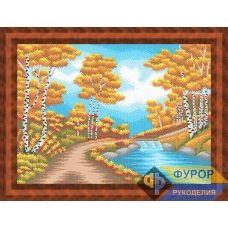 ФР-ПБп2-008 Золотая осень. Схема для вышивки бисером ТМ Фурор рукоделия