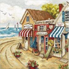 LETI 905 Магазины у моря. Набор для вышивки крестом. Luca-s