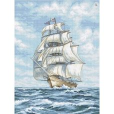 LETI 907 Корабль. Набор для вышивки крестом. Luca-s