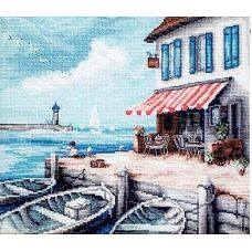 LETI 908 Морской порт. Набор для вышивки крестом. Luca-s