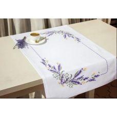 FM012 Набор для вышивки Салфетки Лаванда нитками. Luca-s