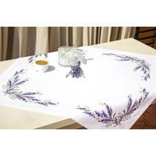 FM007 Набор для вышивки Салфетки Лаванда нитками. Luca-s