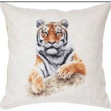 PB131 Тигр. Набор для вышивки подушки нитками. Luca-s
