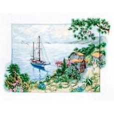 B2343 Морской пейзаж. Набор для вышивки нитками. Luca-s