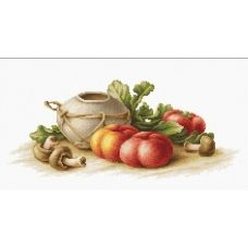 B2249 Натюрморт с овощами.  Набор для вышивки нитками. Luca-s