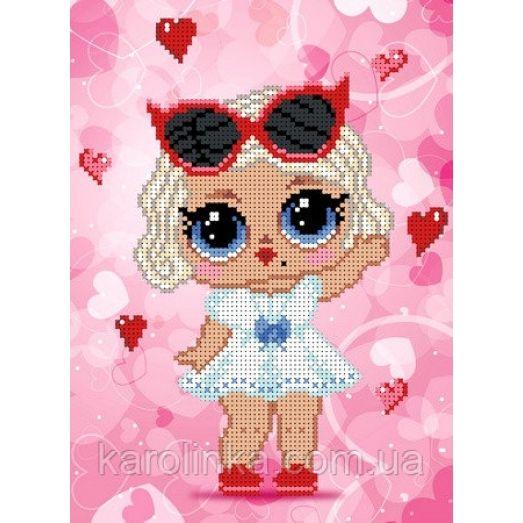 КБЛ-4032 Кукла лол. Схема для вышивки бисером ТМ Каролинка