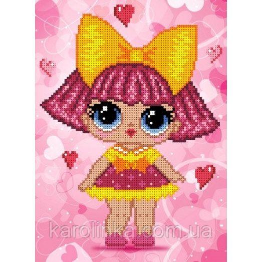 КБЛ-4033 Кукла лол. Схема для вышивки бисером ТМ Каролинка