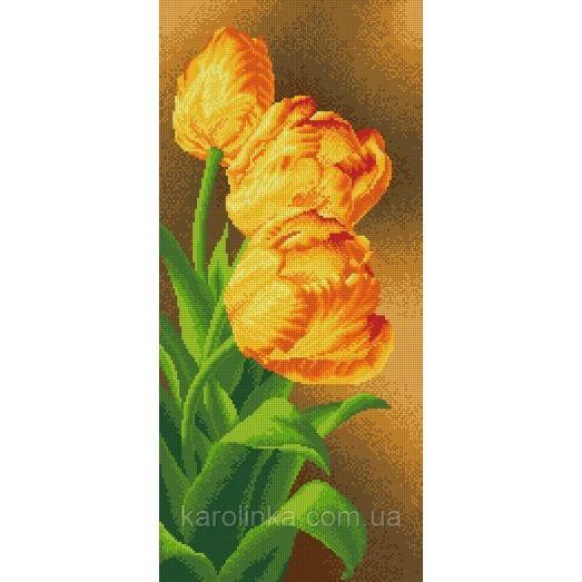 КП-06 Панно тюльпаны. Схема для вышивки бисером ТМ Каролинка