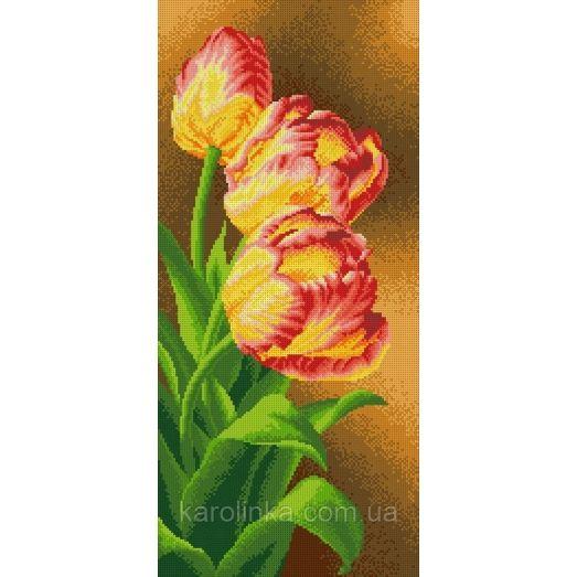 КП-07 Панно тюльпаны. Схема для вышивки бисером ТМ Каролинка