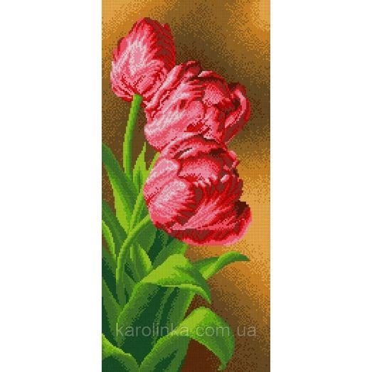 КП-09 Панно тюльпаны. Схема для вышивки бисером ТМ Каролинка