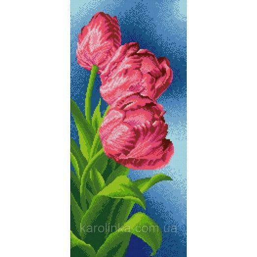 КП-12 Панно тюльпаны. Схема для вышивки бисером ТМ Каролинка